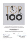Urkunde Top 100 der Innovativsten Unternehmen